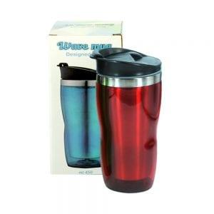 כוס תרמית מפלסטיק אדומה