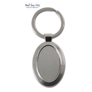 מחזיק מפתחות אליפסי ממתכת