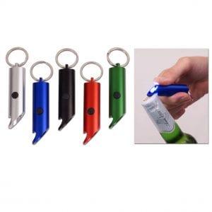 מחזיק מפתחות משולב פנס ופותחן בקבוקים