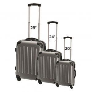סט מזוודות קשיחות בגדלים שונים