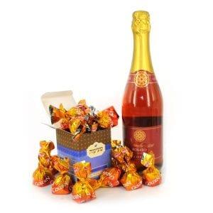טעימה חגיגית - מארז שי פרלינים ושמפנייה