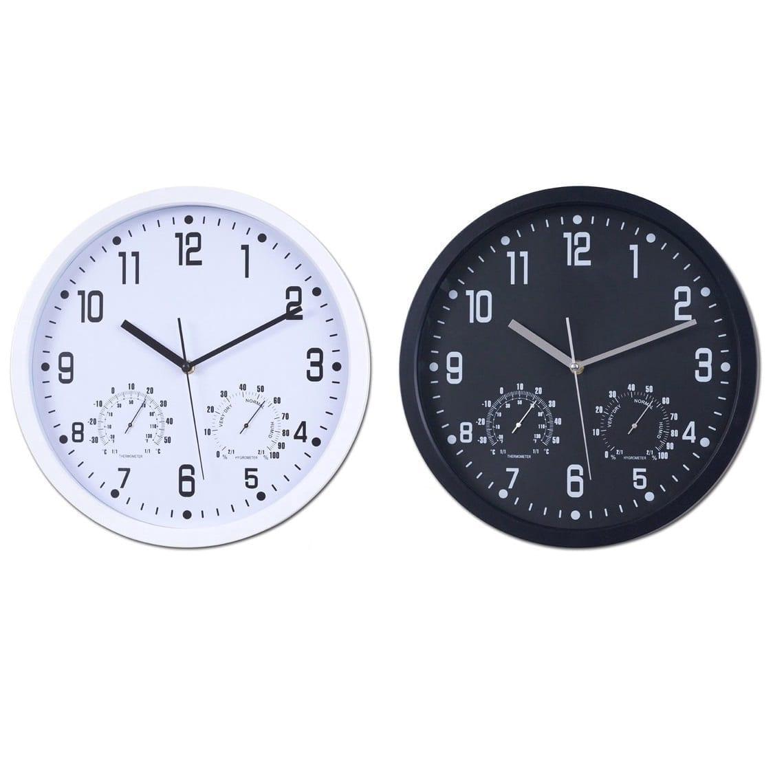 שעון קיר גדול עם טרמומטר