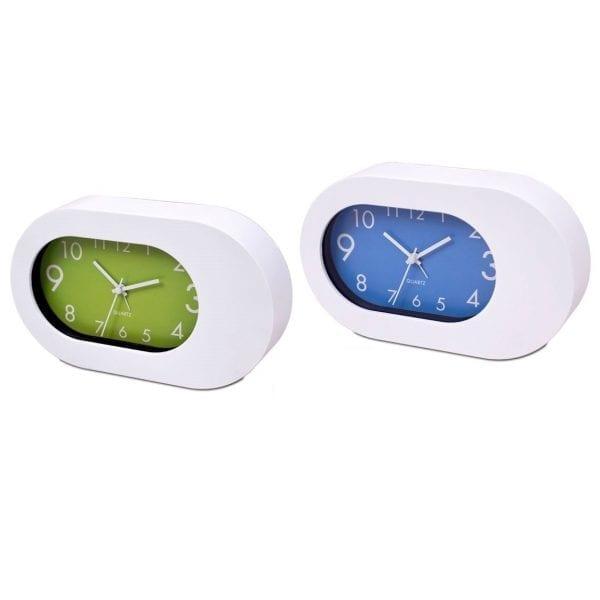 שעון שולחני מעורר בעיצוב אובלי