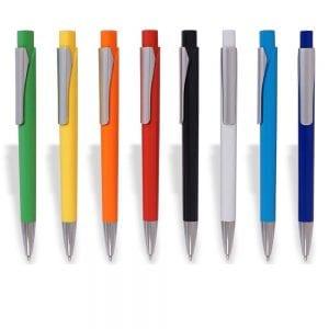 עט כדורי דגם טריומף בצבעים עם תופסן