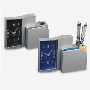 שעון מעורר עם מעמד לעטים ודפי ממו