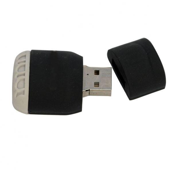 דיסק און קי ממותג בצורת מרובע עם מכסה