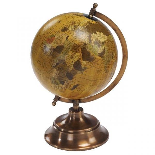 גלובוס כדור הארץ מתכתי למשרד